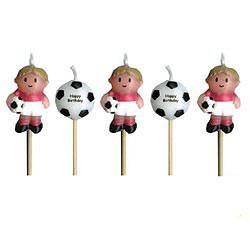 Minikerzen mit Fußballmotiv auf Picker