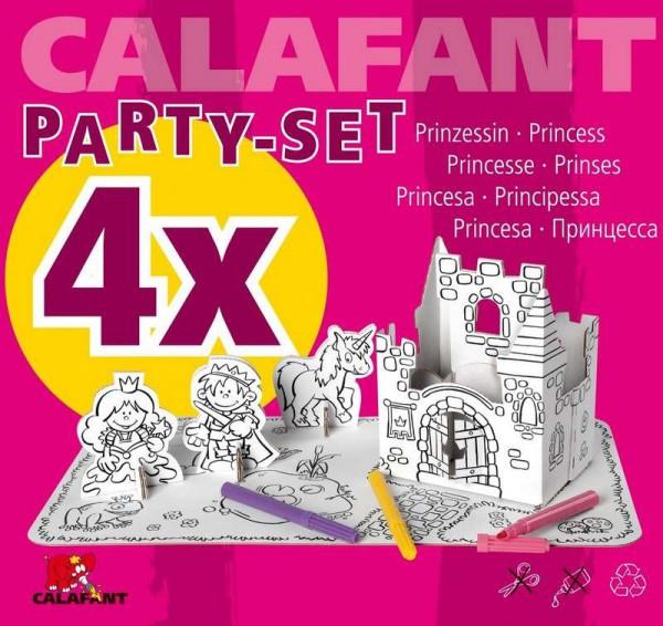 Bastelset Prinzessin mit Schloss - Bastelset für KIndergeburtstag