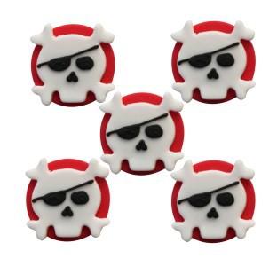 Zuckerfiguren Pirat Totenkopf - Dekoration für Muffins und Kuchen