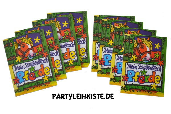 "Zauberblock ""Pferde"" 8er Pack Mitgebsel Set Pferdegeburtstag"
