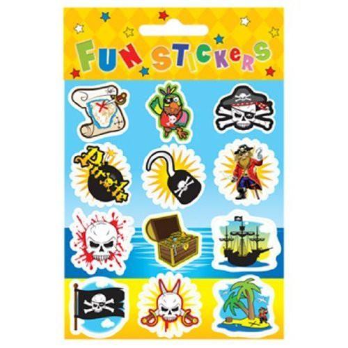 12 Piraten Sticker, coole Aufkleber für Kids