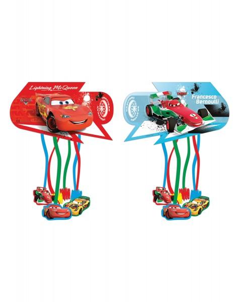 Cars - Zug-Pinata mit Lightning McQueen, mit Bändern