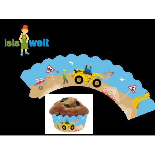 """12 Deko-Banderolen für Muffins """"Baustelle"""" online kaufen"""