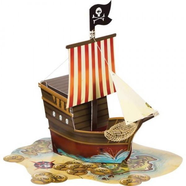Tischdeko Piratenschiff aus Karton