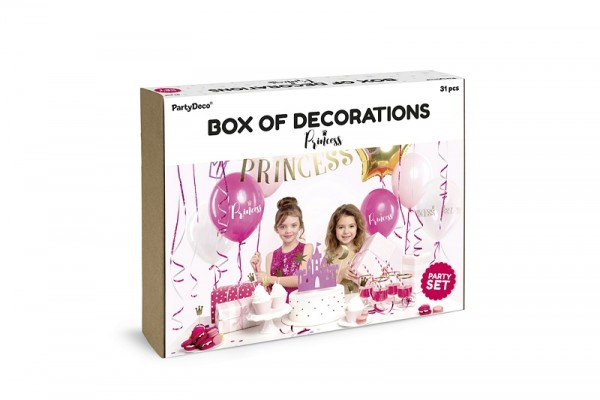 "Party-Deko-Set ""Prinzessin"" - 31-teilig  - Partydekoration Prinzessin"