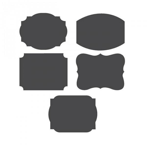 Personalisierbare Tafel-Sticker mit Kreide 11-teilig