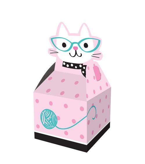 """Geschenkboxen """"Kätzchen Party"""" 8 Stück - Katzen Schnurrparty Deko"""