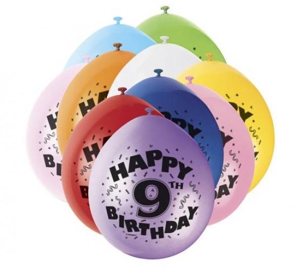 Luftballons 9.Geburtstag