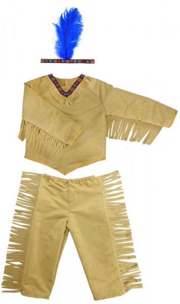 Indianerkostüm für Kinder mit Stirnband und Feder