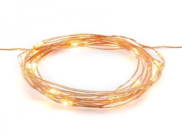 LED-Lichterkette - kupfer - 1,9 m | Dekoration