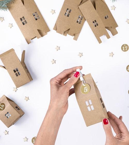 """DIY Weihnachtskalender """"Häuser"""" - Kraftpapier - 120-teilig"""
