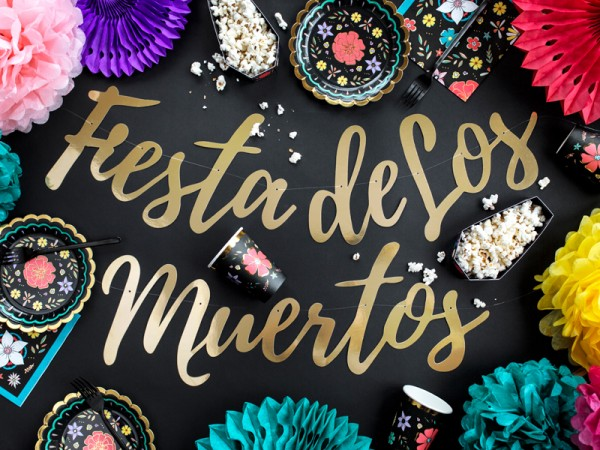 """Fiesta de los Muertes""-DIY-Girlande - 1,6 m - Halloween - Beispieldekoration"