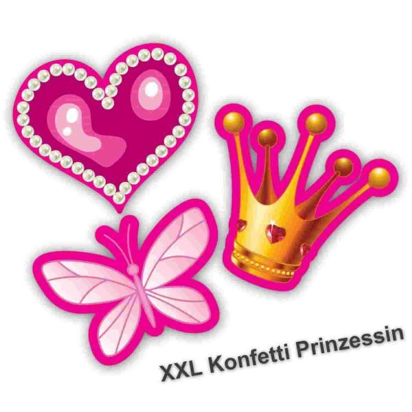 "XXL-Konfetti ""Prinzessin"" 24-tlg. | Streudeko Herz, Schmetterling, Krone"