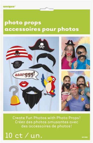 10tlg. Piraten Fotorequisiten-Set