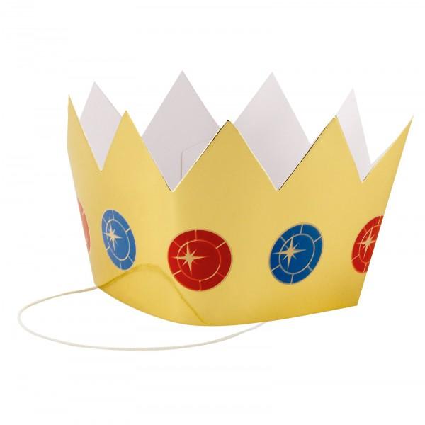 Prinzessin Krone in gold | Krönchen | Königskrone goldfarben aus Karton