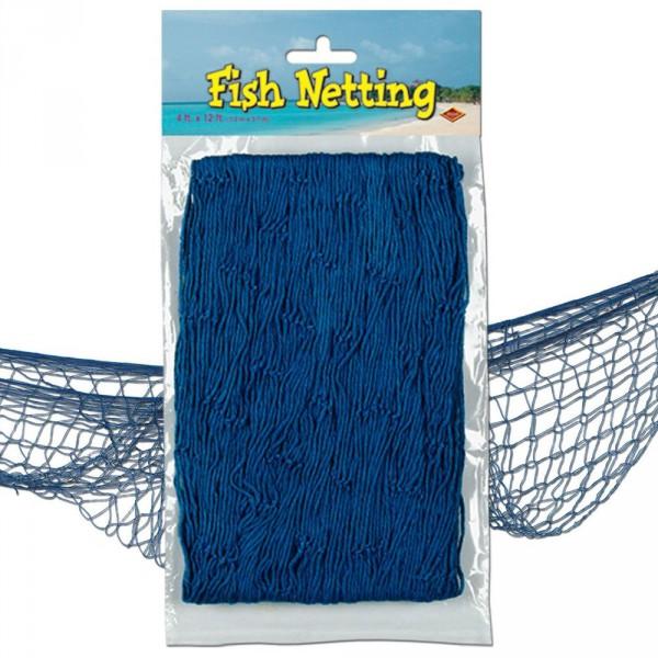 Deko Fischernetz blau 1,2 x 3,7 m ✔ Deko für Piratenparty