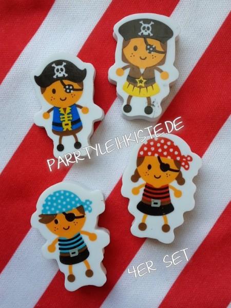 Radiergummi 4er Set Piratenfiguren - Mitgebsel Kindergeburtstag