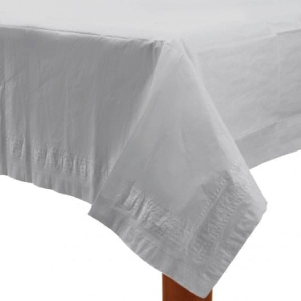Tischdecke Papier137 x 274 cm in schönem weiss