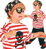 Piratenkostüm für Kinder | Hose, Oberteil, Kopftuch & Augenklappe