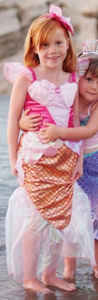 Meerjungfrau Kostüm für Kinder in pink