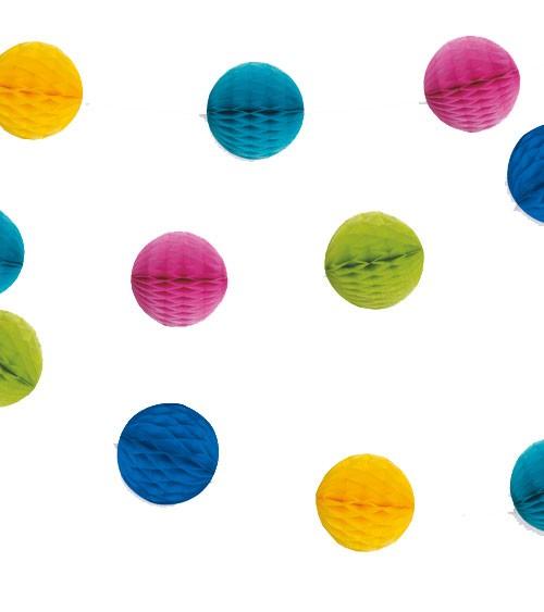 Mini-Wabenball-Girlande - 2,13 m - bunt
