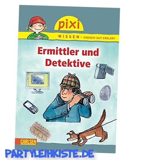 Ermittler und Detektive - 1 Pixi Buch - Detektivparty Zubehör