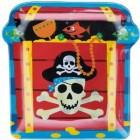 Piraten Teller mit Totenkopf und Schatztruhe | Partygeschirr Kinder