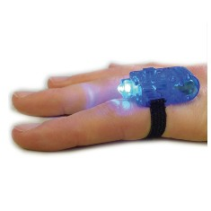 Fingerlicht - kleine Taschenlampe - Mitgbesel für Detektivpartys