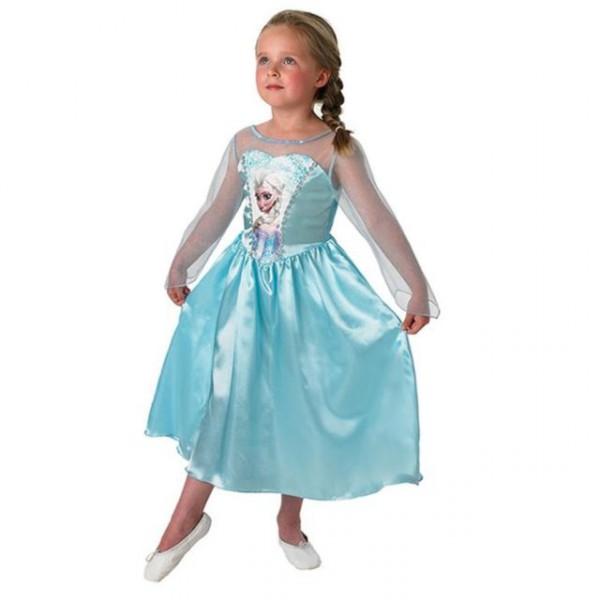 """Disney """"Die Eiskönigin Elsa"""" Classic Kinderkostüm ✔ Satinkleid in meerblau"""