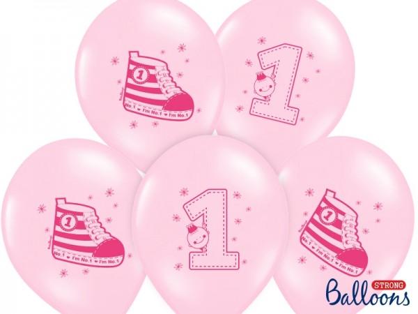 "Luftballons ""I'm No.1"" - rosa - 6 Stück"