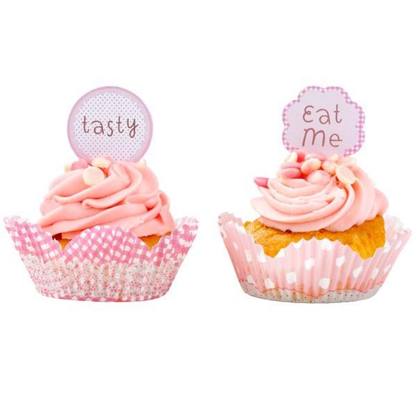 Muffin- und Cupcakeförmchen mit Picks | Zauberhafte Prinzessin Partydeko