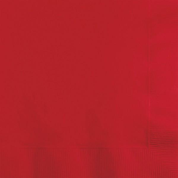 Papier Servietten rot 20er Pack - Partydeko kaufen