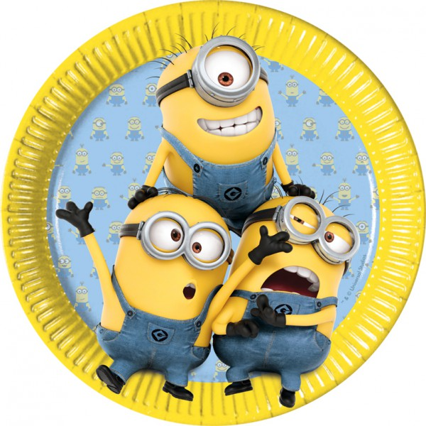 """Pappteller """"Minions"""" 8er Pack - Partydeko für Minions-Party online kaufen"""