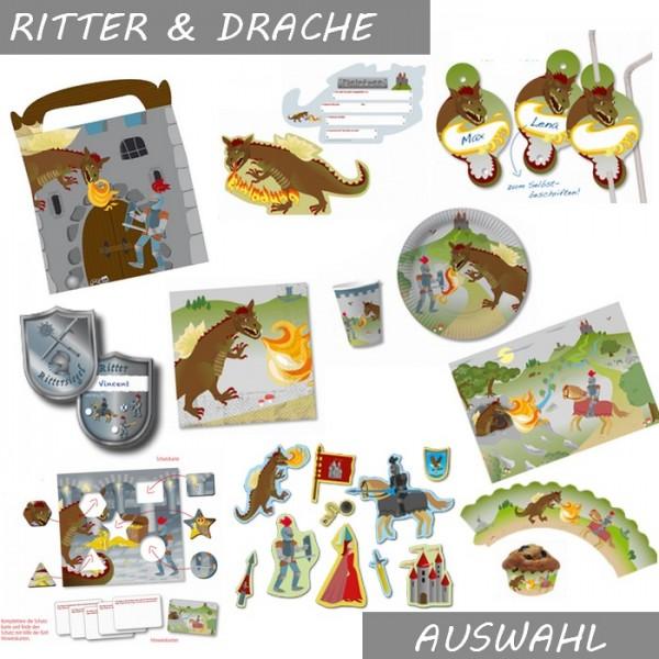 Ritter & Drache Partydeko - Auswahl