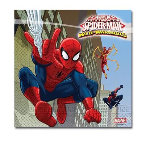 """Papier Servietten & Partydeko mit Superheld """"Spiderman"""""""