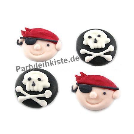 Piraten und totenkopf zuckerdeko 12 st ck piraten - Piraten deko basteln ...