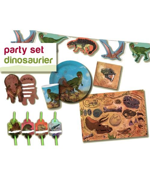 """Party-Set """"Dinosaurier"""" für 8 Personen"""