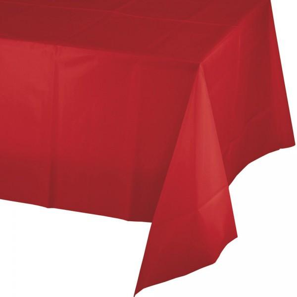 Tischdecke rot, einfarbig, 137 x 274 cm