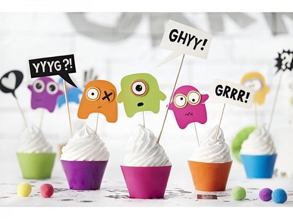 """Cupcake-Kit """"Monster-Party"""" - 12-teilig - Kindergeburtstag"""