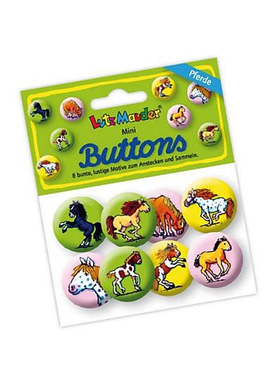 """Mini-Buttons """"Mein Ponyhof"""" zum Anstecken und Sammeln"""