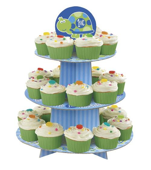"""Cupcake-Ständer """"1. Geburtstag Schildkröte"""""""