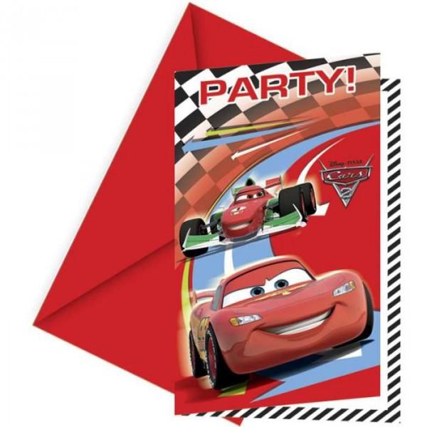 Cars Einladungskarten