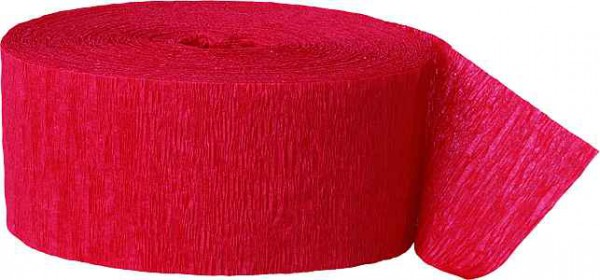 Kreppband rot einfarbig für Motto Partydeko