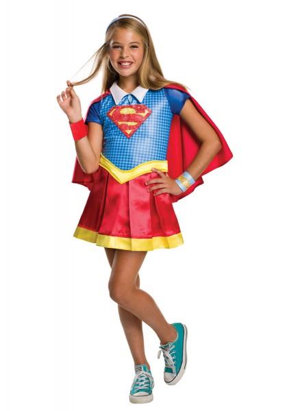 Deluxe Supergirl Kostüm L ca. 8-10 Jahre (ca.134-140)