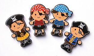 4 Piraten Notizblöckchen - Mitgebsel Set für Kindergeburtstage und Kinderpartys