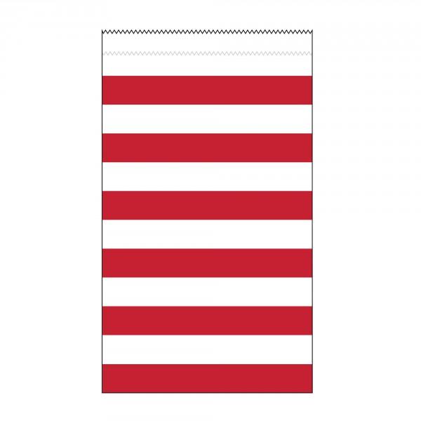 Papier-Tütchen mit Streifen 15er Pack rot-weiss