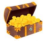 Piratenparty Spiele | Gold in Schatztruhe für Schatzsuche