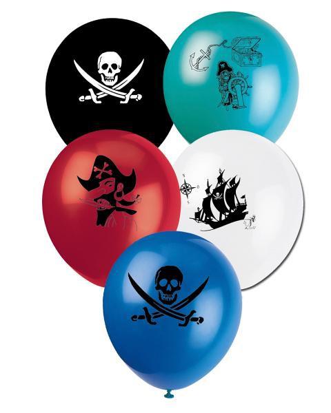 Luftballons Piratenschatz, 8 Stück