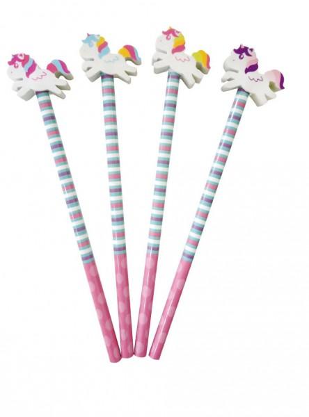 Bleistift Einhorn mit Radiergummi - Einhorn-Party-Zubehör
