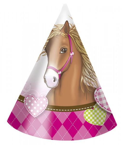 Partyhüte Pferdetraum im 6er Pack